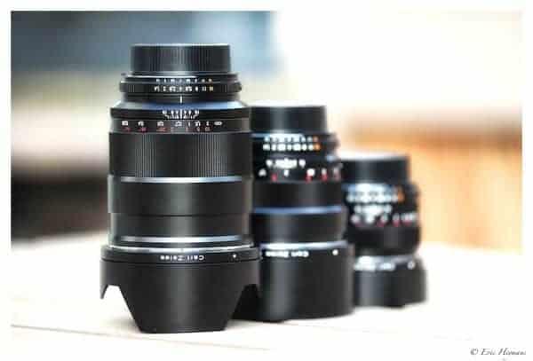 Zeiss: Distagon 1.4 / 35mm; Planar 1.4 / 85mm; Planar 1.4 / 50mm : Monture ZF.2 (Nikon)