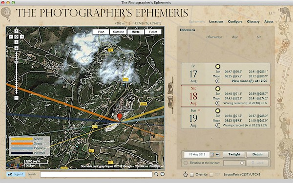 The Photographer's s Ephemeris