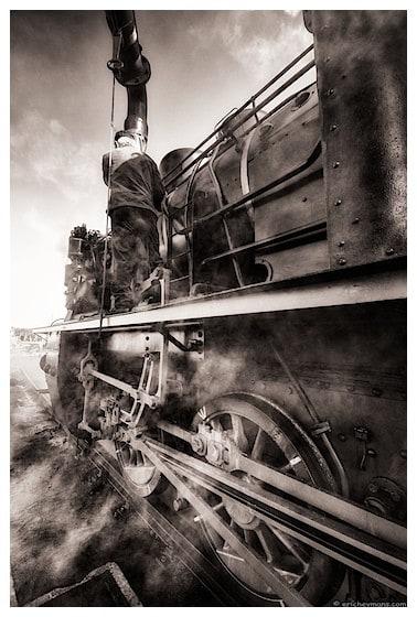 Contre-jour exposé pour les ombres - © Eric Heymans - Festival vapeur de Marienbourg