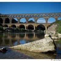 Provence - Pont du Gard - Element avant-plan - Rocher - Eric Heymans 6