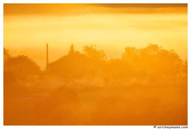 Le brouillard ne favorise pas la netteté de cette photo mais... crée une belle ambiance - © Eric Heymans