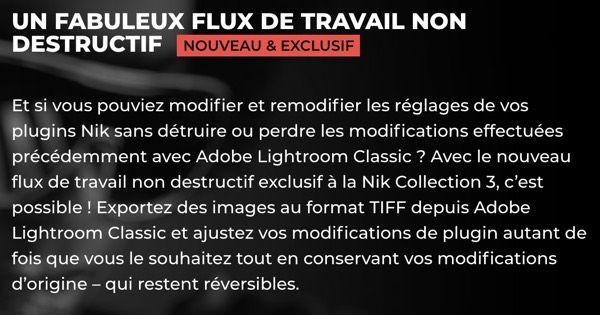 Nik Collection 3 - Description du flux de travail non-destructif
